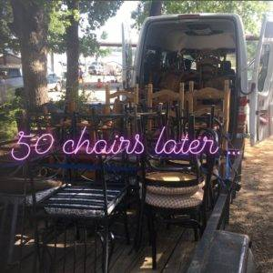 50 mismatched chairs